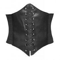 Lace-up Corset Elastic Cinch Belt Waist Belt
