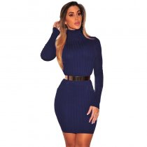 Womens Millie High Neck Mini Bodycon Dress