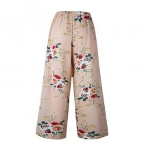 Summer Women Loose Printed Long Trousers