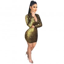 Show Stopper Sequin Long Sleeve Bodycon Dress