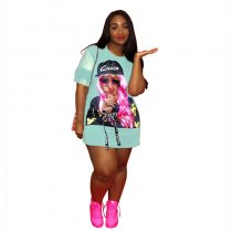 Hip-hop Character Lollipop Portrait T-shirt Dress