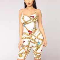 Chains On Lock Romper Suit