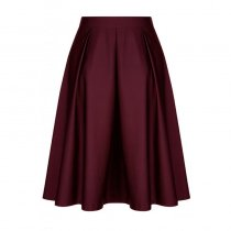 A4 Plus Size A-Line Maxi Skirt