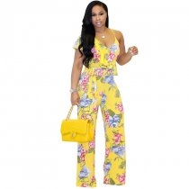 Printed Casual One-piece Jumpsuits
