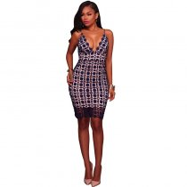 Hollow Out Lace Slim Sling Dress