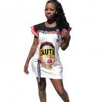 Printed Cartoon Character Dress