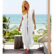 White Long Beach Cover Ups Kaftan