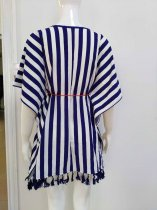Striped Beach Coverup Kaftan
