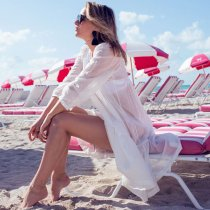 Hollow Embroidered Beach Dress