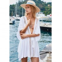 Women's Guaze Tie Front Swim Cover Up