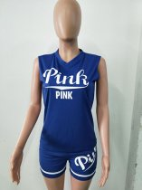 Sportive Print Pink Short Outfits