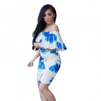 Off The Shoulder Flower Bodycon Dress