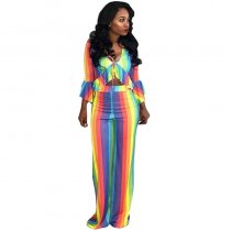 Colorful Strippes Top and Pants