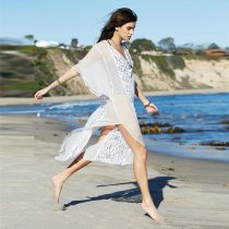 Lace Smooh Cover Up Chiffon Caftan