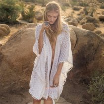 Circle Ball Lace Beach Cardigan
