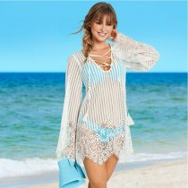 Lace Pattern Eyelash Lace Beach Cover Up