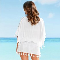 Polyester Lace Loose Beach Tunic