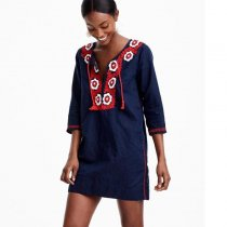 Embroidered Beach Tunic
