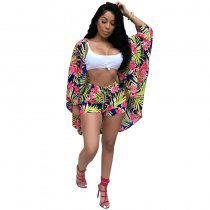 Dorian Printed Long Sleeve Two-pieces Shorts Set
