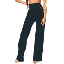 High Waist Wide Leg Pants (Black)