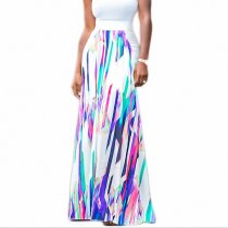 Multicolor Printed Long Skirt