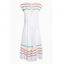Multiple Lace Belt Beach Dress