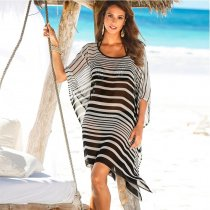 Striped Cover Ups Beach Wear