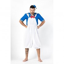 Men Cosplay Suspenders Trousers Costume