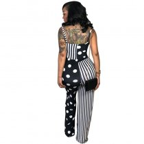 Casual Dots Printed Striped Jumpsuit
