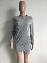 Long Sleeves Slits Mini Dress