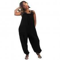 Wide Straps Lazy Jumpsuits