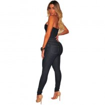 Sexy Strapless Denim Jumpsuits