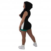 Short Sports Contrast Hoody Jersey and Shorts