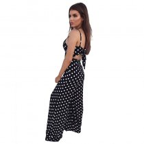 Polka Dot Lovely Straps Jumpsuits