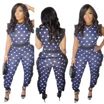 Fungus Sleeve Polka Dot Dottie Jumpsuits
