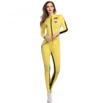 Smiffys Kill Bill Jumpsuit Costume With Sword Small Yellow