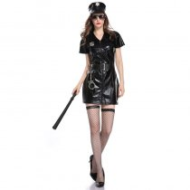 Leather Police Costume Dress