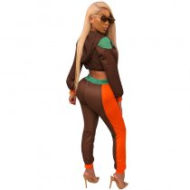 Bronx Jersey Two Pieces Set (Brown/green)