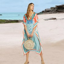 Luxe V Neck Beach Caftan
