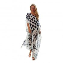 Kaftan Pareo Sarongs Cover-Up Chiffon Beach Dress