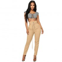 Solid Casual Fashion Long Pants