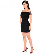 Friendzone Off Shoulder Lace Club Dress