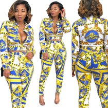 Long Sleeve Print Two Piece Sets