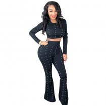 Beaded Women's  Crop Top And Trousers