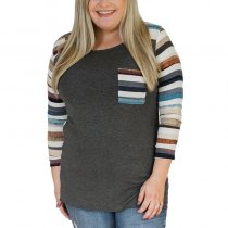 Splicing Super Plus Size T-shirt top