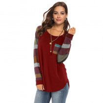 Long Multi Color Striped Sleeves Top