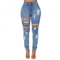 On The Way Up High Rise Distressed Jeans