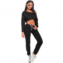 Loose Sports Crop Top And Pants