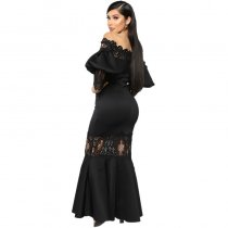 Lady Of The Manor Maxi Dress - Black
