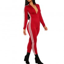 Women Zipper Sport Jumpsuits